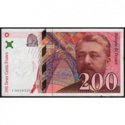 F 75-01 - 1995 - 200 francs - Eiffel - Série J - Etat : TB+