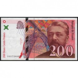 F 75-02 - 1996 - 200 francs - Eiffel - Série S - Etat : TTB+