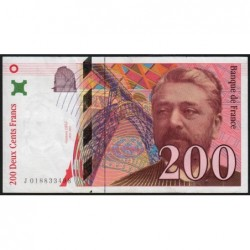 F 75-02 - 1996 - 200 francs - Eiffel - Série J - Etat : SUP