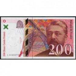 F 75-02 - 1996 - 200 francs - Eiffel - Série L - Etat : SPL+