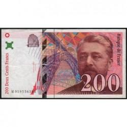 F 75-02 - 1996 - 200 francs - Eiffel - Série M - Etat : TB