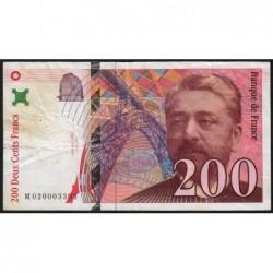 F 75-02 - 1996 - 200 francs - Eiffel - Etat : TB