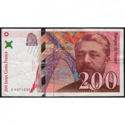F 75-02 - 1996 - 200 francs - Eiffel - Etat : TB+