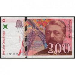 F 75-02 - 1996 - 200 francs - Eiffel - Série E - Etat : TB