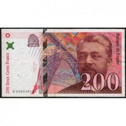 F 75-02 - 1996 - 200 francs - Eiffel - Série R - Etat : TB+