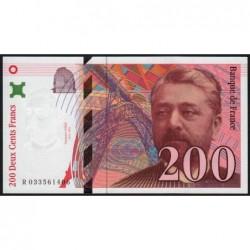 F 75-02 - 1996 - 200 francs - Eiffel - Série R - Etat : pr.NEUF