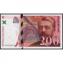 F 75-02 - 1996 - 200 francs - Eiffel - Série M - Etat : TTB+