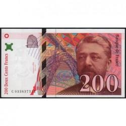 F 75-02 - 1996 - 200 francs - Eiffel - Série C - Etat : SPL