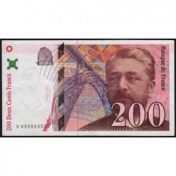 F 75-03a - 1996 - 200 francs - Eiffel - Série N - Etat : TTB-
