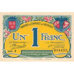Grenoble - Pirot 63-20a - 1 franc - 1917 - Etat : SUP