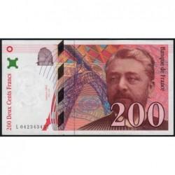 F 75-03a - 1996 - 200 francs - Eiffel - Série L - Etat : SUP+