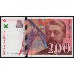 F 75-03a - 1996 - 200 francs - Eiffel - Série R - Etat : SUP