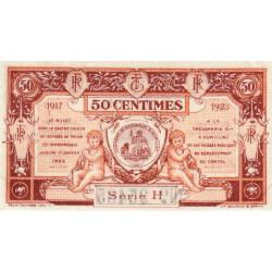 Aurillac (Cantal) - Pirot 16-12 variété - 50 centimes - Série H - 1917 - Etat : SUP
