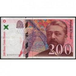 F 75-03a - 1996 - 200 francs - Eiffel - Etat : TTB