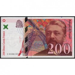 F 75-03b - 1996 - 200 francs - Eiffel - Série E - Etat : TTB+