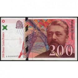 F 75-03b - 1996 - 200 francs - Eiffel - Série A - Etat : TTB