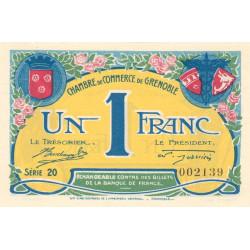 Grenoble - Pirot 63-20b - 1 franc - Série 20 - 08/11/1917 - Etat : SPL