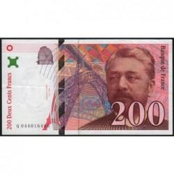F 75-04a - 1997 - 200 francs - Eiffel - Etat : TTB+