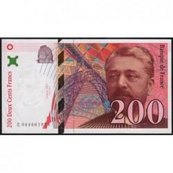 F 75-04a - 1997 - 200 francs - Eiffel - Etat : SUP