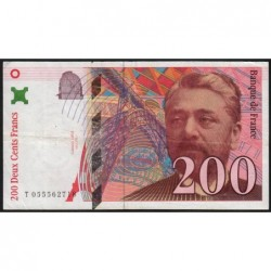 F 75-04b - 1997 - 200 francs - Eiffel - Etat : TTB