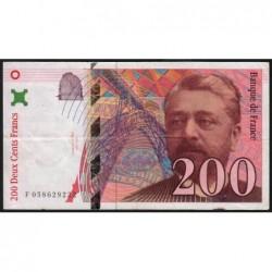 F 75-04b - 1997 - 200 francs - Eiffel - Etat : TB+