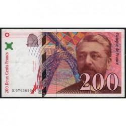 F 75-05 - 1998 - 200 francs - Eiffel - Série K - Etat : TTB+
