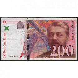 F 75-05 - 1998 - 200 francs - Eiffel - Série T - Etat : TB