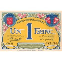 Grenoble - Pirot 63-25 - 1 franc - Série 11 - 08/11/1917 - Etat : SPL