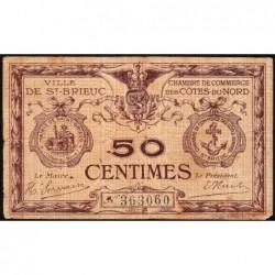 Saint-Brieuc - Pirot 111-1c - Sans série - 50 centimes - Sans date - Etat : TB