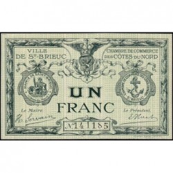 Saint-Brieuc - Pirot 111-6a - Sans série - 1 franc - Sans date - Etat : NEUF
