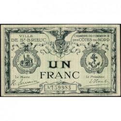 Saint-Brieuc - Pirot 111-6b - Sans série - 1 franc - Sans date - Etat : SUP