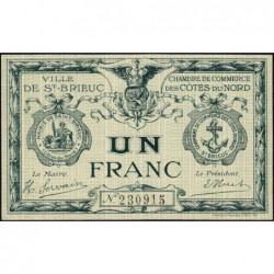 Saint-Brieuc - Pirot 111-6b - Sans série - 1 franc - Sans date - Etat : SPL