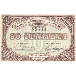 Gueret (Creuse) - Pirot 64-1 - 50 centimes - Sans série - 27/07/1915 - Etat : SPL