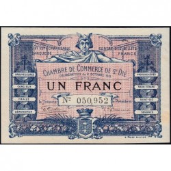 Saint-Dié - Pirot 112-3 - 1 franc - 09/10/1915 - Etat : SPL