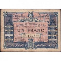 Saint-Dié - Pirot 112-3 - 1 franc - 09/10/1915 - Etat : TB-