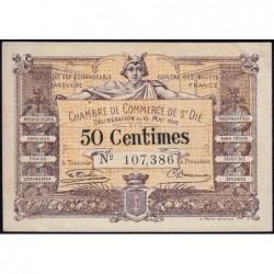 Saint-Dié - Pirot 112-5 - 50 centimes - 10/05/1916 - Etat : SUP