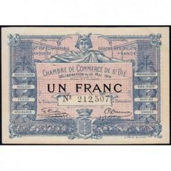 Saint-Dié - Pirot 112-8 - 1 franc - 10/05/1916 - Etat : SUP+