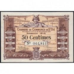 Saint-Dié - Pirot 112-10 - 50 centimes - 08/11/1917 - Etat : SPL