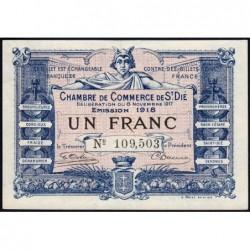 Saint-Dié - Pirot 112-11 - 1 franc - 08/11/1917 - Etat : SPL