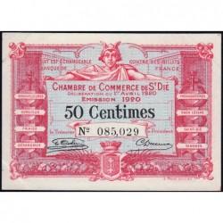 Saint-Dié - Pirot 112-16 - 50 centimes - 01/04/1920 - Etat : SUP+