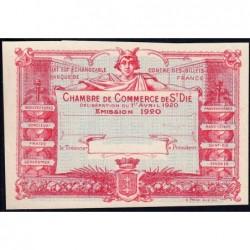 Saint-Dié - Pirot non répertorié - 50 centimes - 01/04/1920 - Epreuve type 2- Etat : SPL