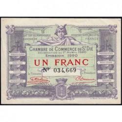 Saint-Dié - Pirot 112-19 - 1 franc - 01/04/1920 - Etat : SUP