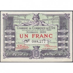 Saint-Dié - Pirot 112-19 - 1 franc - 01/04/1920 - Etat : SUP+