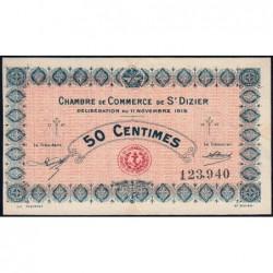 Saint-Dizier - Pirot 113-1 - 50 centimes - 11/11/1915 - Etat : SUP+