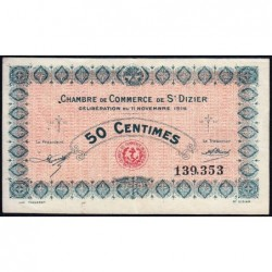 Saint-Dizier - Pirot 113-1 - 50 centimes - 11/11/1915 - Etat : TTB+