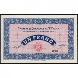 Saint-Dizier - Pirot 113-6 - 1 franc - 11/11/1915 - Etat : SPL