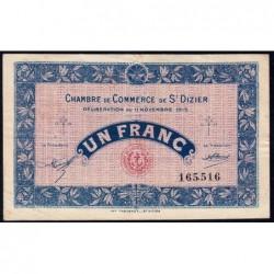 Saint-Dizier - Pirot 113-6 - 1 franc - 11/11/1915 - Etat : TTB