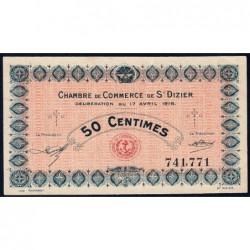 Saint-Dizier - Pirot 113-11 - 50 centimes - 17/04/1916 - Etat : SUP