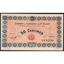 Saint-Dizier - Pirot 113-11 - 50 centimes - 17/04/1916 - Etat : TTB+
