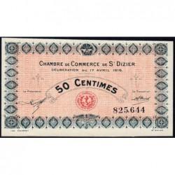 Saint-Dizier - Pirot 113-11 - 50 centimes - 17/04/1916 - Etat : NEUF